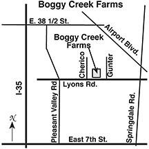 Boggy Creek Farm Map