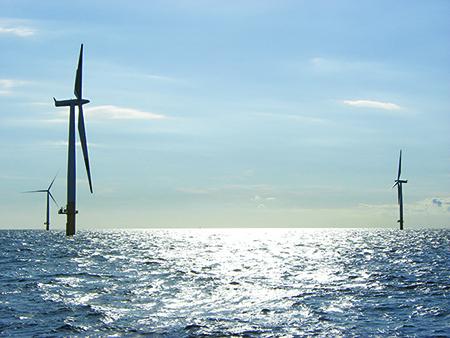 Offshore wind farm in Baltic Sea off German coast